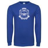Royal Long Sleeve T Shirt-Delta Epsilon Psi Shield