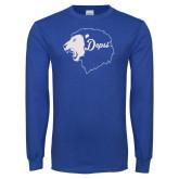 Royal Long Sleeve T Shirt-Lion Head Depsi