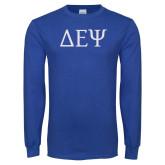 Royal Long Sleeve T Shirt-Greek Letters