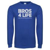 Royal Long Sleeve T Shirt-Bros 4 Life