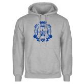 Grey Fleece Hoodie-Delta Epsilon Psi Shield