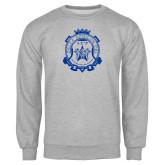Grey Fleece Crew-Delta Epsilon Psi Shield