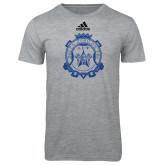 Adidas Sport Grey Logo T Shirt-Delta Epsilon Psi Shield