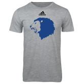 Adidas Sport Grey Logo T Shirt-Lion Head
