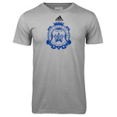Adidas Climalite Sport Grey Ultimate Performance Tee-Delta Epsilon Psi Shield