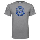 Grey T Shirt-Delta Epsilon Psi Shield