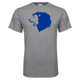 Grey T Shirt-Lion Head