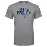 Grey T Shirt-Stacked Word Mark