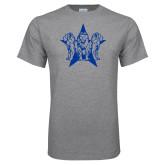 Grey T Shirt-Triple Lions Star