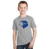 Youth Grey T Shirt-Lion Head Depsi