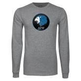 Grey Long Sleeve T Shirt-Lion