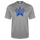 Performance Grey Heather Contender Tee-Triple Lions Star