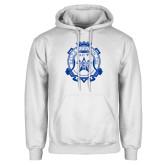 White Fleece Hoodie-Delta Epsilon Psi Shield