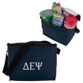 Six Pack Navy Cooler-Greek Letters