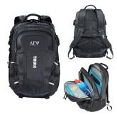 Thule EnRoute Escort 2 Black Compu Backpack-Greek Letters