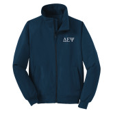 Navy Charger Jacket-Greek Letters