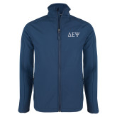 Navy Softshell Jacket-Greek Letters