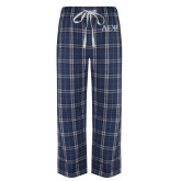 Navy/White Flannel Pajama Pant-Greek Letters
