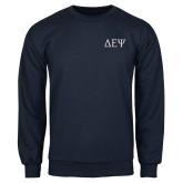 Navy Fleece Crew-Greek Letters
