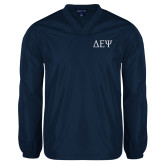 V Neck Navy Raglan Windshirt-Greek Letters