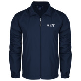 Full Zip Navy Wind Jacket-Greek Letters