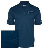 Nike Dri Fit Navy Pebble Texture Sport Shirt-Greek Letters