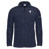 Columbia Full Zip Navy Fleece Jacket-Lion Head