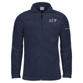 Columbia Full Zip Navy Fleece Jacket-Greek Letters