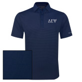 Columbia Navy Omni Wick Sunday Golf Polo-Greek Letters