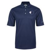 Nike Golf Tech Dri Fit Navy Polo-Lion Head