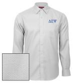 Red House White Diamond Dobby Long Sleeve Shirt-Greek Letters