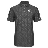 Nike Dri Fit Charcoal Embossed Polo-Lion Head