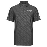 Nike Dri Fit Charcoal Embossed Polo-Greek Letters