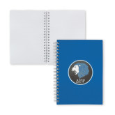 Clear 7 x 10 Spiral Journal Notebook-Lion