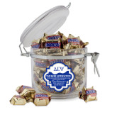 Snickers Satisfaction Round Canister-Greek Letters