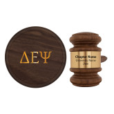 Personalized Gavel & Sound Block Set-Greek Letters  Engraved