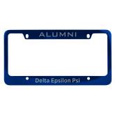 Alumni Metal Blue License Plate Frame-Delta Epsilon PSI  Engraved