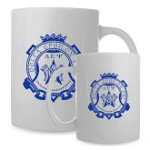 Full Color White Mug 15oz-Delta Epsilon Psi Shield