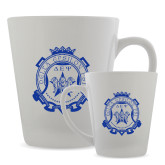 Full Color Latte Mug 12oz-Delta Epsilon Psi Shield