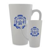 Full Color Latte Mug 17oz-Delta Epsilon Psi Shield