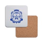 Hardboard Coaster w/Cork Backing-Delta Epsilon Psi Shield