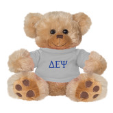 Plush Big Paw 8 1/2 inch Brown Bear w/Grey Shirt-Greek Letters