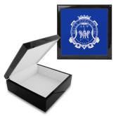Ebony Black Accessory Box With 6 x 6 Tile-Delta Epsilon Psi Shield