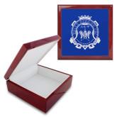 Red Mahogany Accessory Box With 6 x 6 Tile-Delta Epsilon Psi Shield