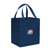 Non Woven Navy Grocery Tote-Primary Logo