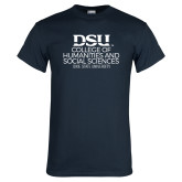 Navy T Shirt-CHASS with University Name Stacked