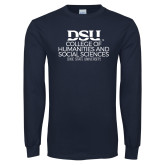 Navy Long Sleeve T Shirt-College of Humanities and Social Sciences
