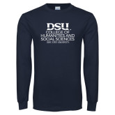 Navy Long Sleeve T Shirt-CHASS with University Name Stacked