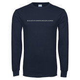 Navy Long Sleeve T Shirt-CHASS One Line
