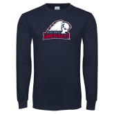 Navy Long Sleeve T Shirt-Dixie State Trailblazers